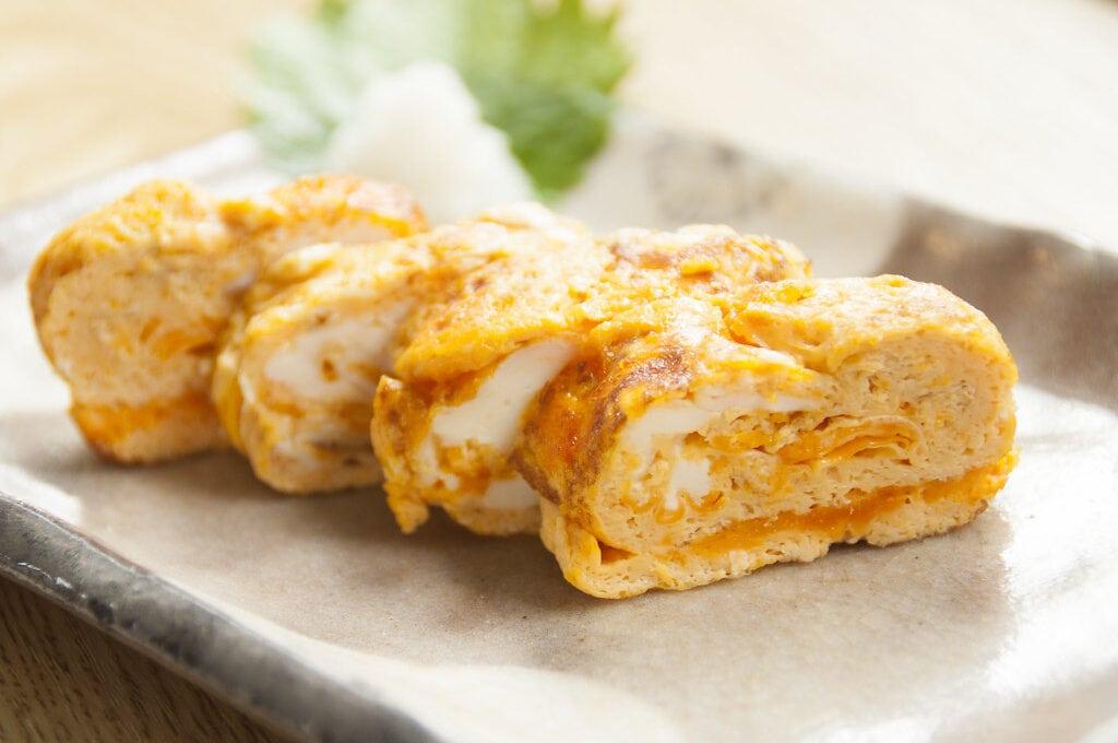Tamagoyaki (pan fried rolled eggs)