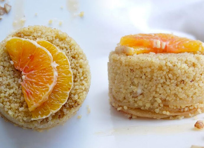 Sweet Couscous (Egyptian Dessert)