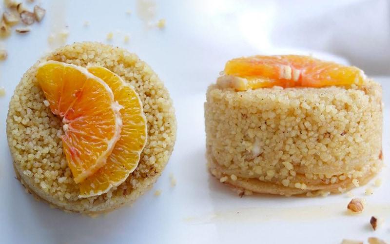 Sweet Couscous (Egyptian Dessert)