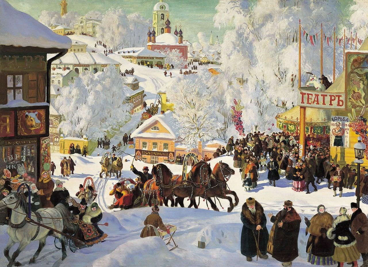 russia, winter, wintry