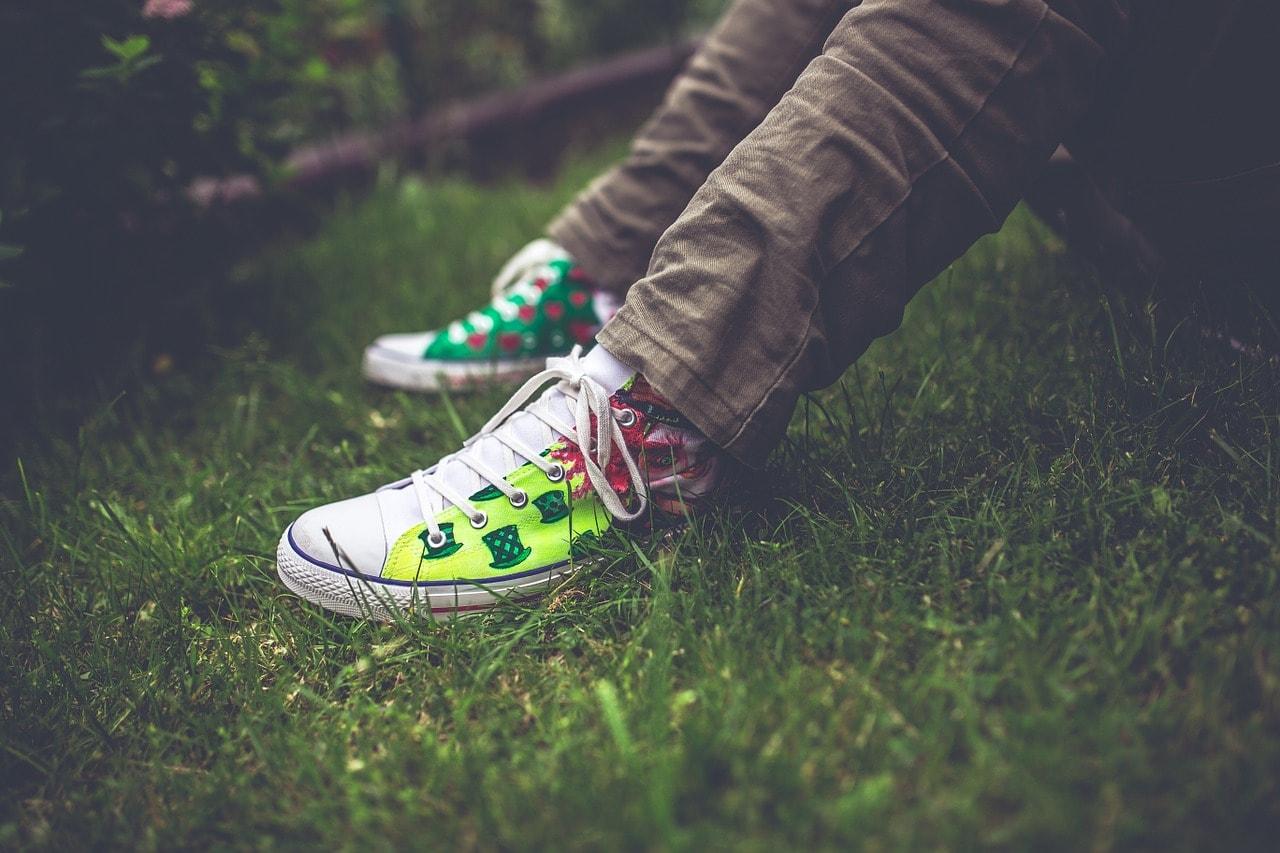 handmade, sneakers, colorful