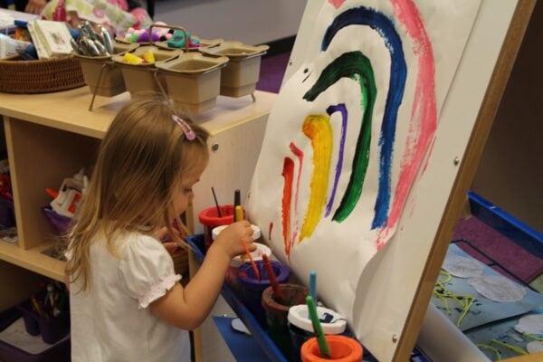 rainbow, art, paint